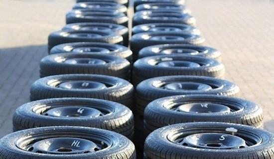 Тестирование шины для лета: Поперечное сцепление на мокрой поверхности Bridgestone Turanza T001, Continental ContiPremiumContact 5, Michelin Energy Saver Plus