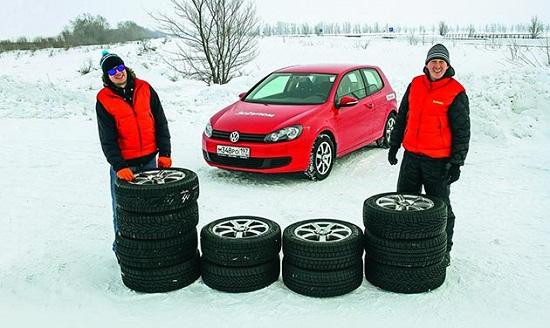 Сравнительный тест резины: для зимы Nokian Hakkapeliitta R2, Nokian Nordman RS, Pirelli Winter Ice Control, Toyo Observe Garit GSi5 205/55 R16 За рулем 2014