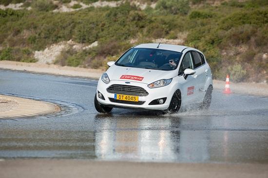 Сравнительный тест шин для летнего сезона: Тест на управляемость на мокрой поверхности Barum Brillantis 2, Dunlop SP StreetResponse, Sava Perfecta 175/65 R14 L'Argus 2013