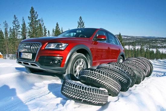 Сравнительный тест резины для внедорожников: зимних Bridgestone Blizzak LM-80 Evo, Dunlop SP Winter Sport 4D, Goodyear UltraGrip SUV, Kumho I Zen RV KC15 235/65/17 Auto Bild Allrad 2014