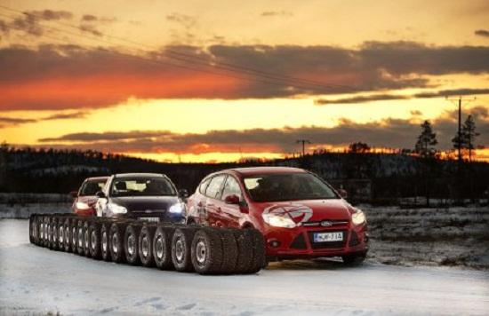Тест драйв автошин: зимних моделей Goodyear UltraGrip Ice 2, Goodyear UltraGrip Ice Arctic, Hankook Winter I*Pike RS W419 205/55 R16 Test World 2014