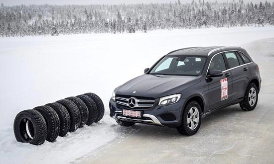 Характеристики резины: Goodyear UltraGrip Ice Arctic, Michelin Latitude X-Ice North 2+ 235/65/17 Auto Bild Беларусь 2016