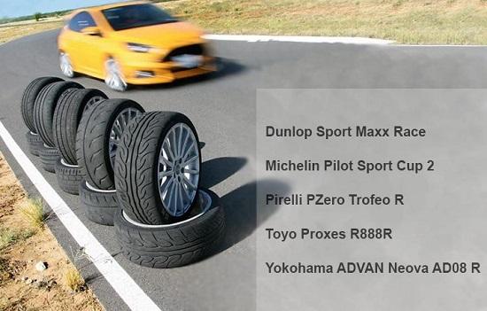 Тесты шин для лета: Dunlop SP Sport Maxx Race, Michelin Pilot Sport Cup 2 235/35/19 Auto Bild Sportscars 2017