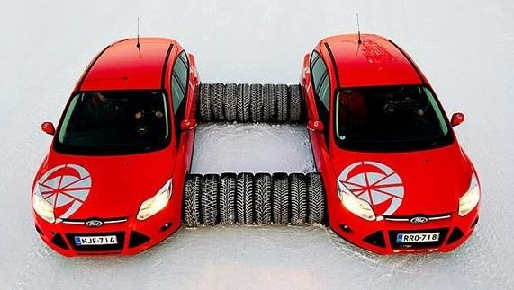 Испытание автошин: Bridgestone Blizzak Spike-01, Bridgestone Blizzak WS80, Continental ContiVikingContact 6, Nokian Hakkapeliitta 8 205/55 R16 Test World 2015