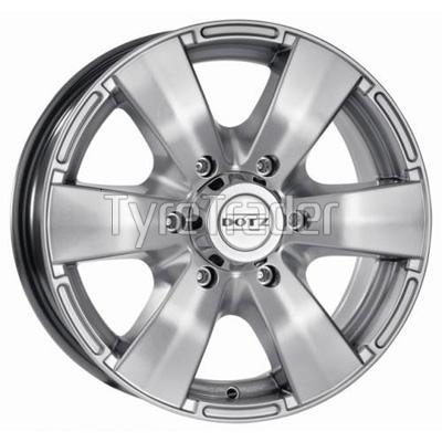 Dotz Luxor 7x16 5x139,7 ET0 DIA110,1 (silver)