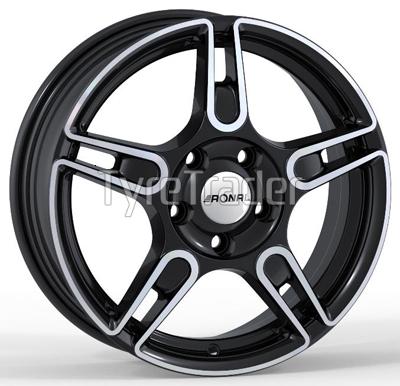 Ronal R52 Trend 5,5x15 5x114,3 ET45 DIA76 (black front diamond cut)