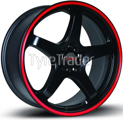 Tenzo Tracer 8,5x18 5x114,3 ET32 DIA73,1 (matt black)