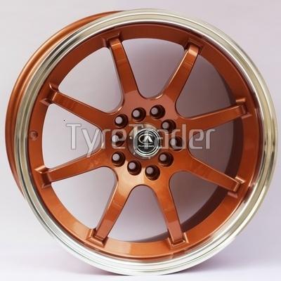 Alexrims AFC-2 (forged) 8x17 5x100 ET42 DIA67,1 (bronze + polished rim)