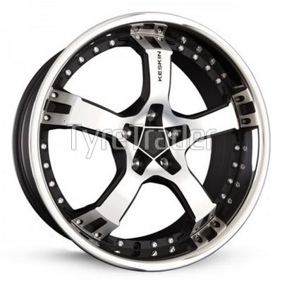 Keskin KT10 Humerus 8,5x18 5x114,3 ET40 DIA72,6 (matt black front polished steel lip)