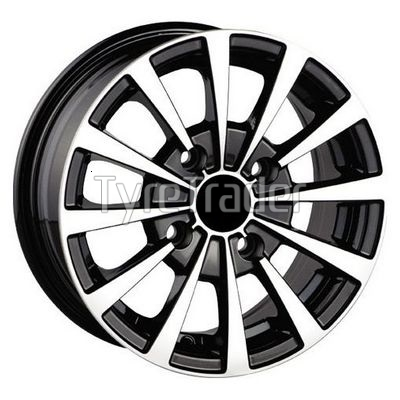 PDW DW-894 6,5x15 4x108 ET23 DIA65,1 (gloss black machined face)