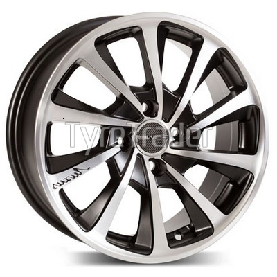PDW Max Turf 6,5x15 4x100 ET35 DIA67,1 (gloss black machined face)
